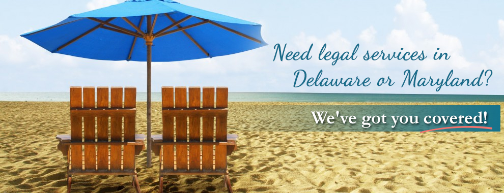 legal services in Delaware or Maryland